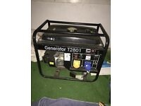110v and 240v petrol generator