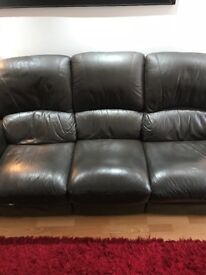 Leather recliner 3 seater plus 2 seater recliner sofas