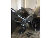 Quinny buzz pushchair + maxi cosi car seat + adapters