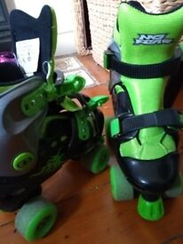 Kids No Fear adjustable roller boots size 11-13