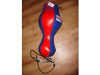 Lonsdale 3 in 1 tethered Punch Bag Red and Blue