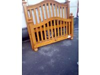 Wooden double bed frame in good solid condition bargain at £110