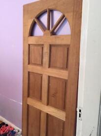 Solid wood external front door