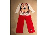 Girls Minnie Mouse pjs age 9/10 bnwt