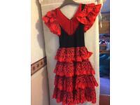 Red Spanish dress age 8