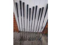 11 diffrent golf sticks