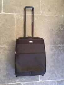 Black Samsonite Wheeled Carry On Soft Suitcase