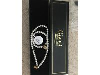 Beautiful brand new pearl bracelet- boxed and with certificate of authenticity