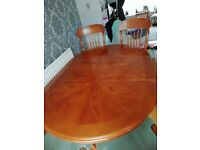 Dining table & 4 chairs matching dresser