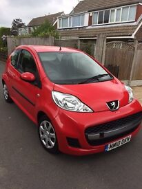 Peugeot 107, 10 Plate, 40600, 9 Months MOT, Service History, Lady Owner, CAT D, Excellent in and out