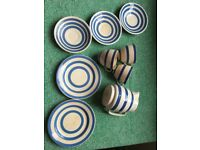 Vintage cornishware Cups and saucer, plus others