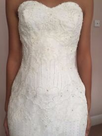 MARTINA LIANA IVORY WEDDING DRESS SWEETHEART NECK MERMAID SHAPE