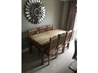 Dining table /chairs /and coffee tables