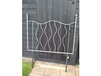 One of a kind METAL HEADBOARD (4FT) Silver