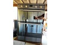 Indesit Electric Double Oven with Top Grill