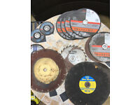 Cutting discs of various sizes - including diamond tipped masonry disc