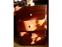 Small mahogany 4 drawer cabinet