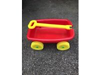 Child pull along wagon, used but in good condition