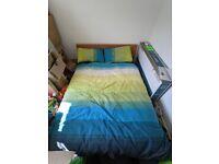 Ikea MALM oak-veneer double bed