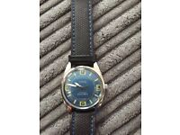 Men's oris automatic wrist watch good condition,brand new leather strap