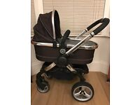Icandy peach buggy, carry cot and accessories
