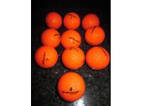10x Dunlop Orange Golf Balls