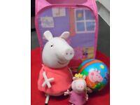 Peppa Pig Bundle - Talking Peppa, Beanie Princess Peppa, Toy Tidy & Ball