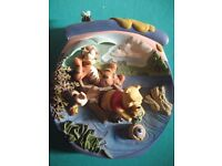 Complete set of 12 gorgeous hand painted 3D Winnie-the-Pooh plates.