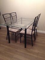 Glasstop Dining Table Set