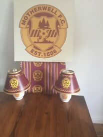 Motherwell FC Double Duvet, Two Matching Table LampsAnd Large Canvas