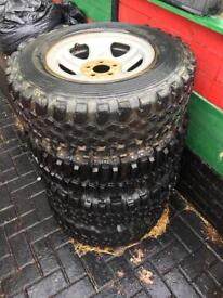 4x4 off-roader wheels and tyres, odd alloys and tyres ideal for off roader