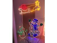 8x Christmas Decorations Lights Large 🎅☃️