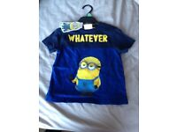 Brand new kids Minions t-shirt 3-4 yrs