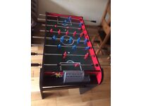 New football table is ready to go.