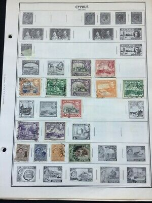 TCStamps LOOK!!  4x Pages of OLD Other Cyprus Postage Stamps #790