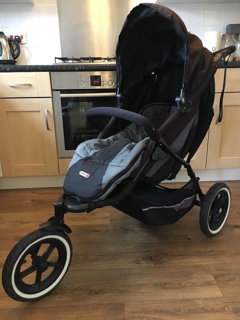 Phil & Teds single to double all terrain stroller with everything you need