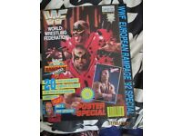 RARE WWE/ WWF WRESTLING SUPER STARS POSTER MAGAZINE LOD COVER HAVE OTHER MAGAZINES FOR SALE