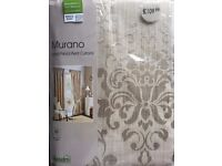 Brand New Murano Lined Pencil Pleat Curtains