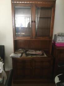 2x mahogany cabinets