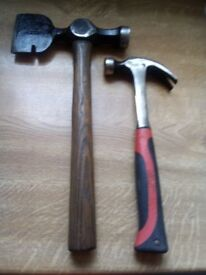 HAMMERS X 2 rigging hammer/axe+ solid shaft claw hammer