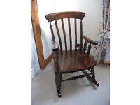 Magogany rocking chair
