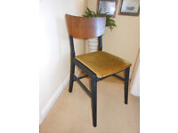 4 retro/vintage dining chairs solid wood