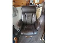 3 leather armchairs
