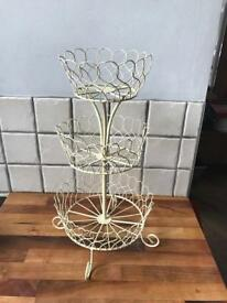 REDUCED Cream Metal Tiered Cake Stand