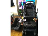 JOIE MIRUS MUZE TRAVEL system LIGHTWEIGHT BABY PUSHCHAIR STROLLER black car seat