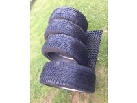 DUNLOP Audi A6 - SP WINTER SPORT 3D TYRES - Used for three months only