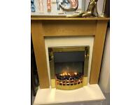 Electric Fire With Wooden Fire Surround
