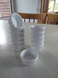 Ramekin dishes (12) Small (5 cm) White, suitable for butter, dips, etc