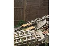 Free garden rubble & kindling firewood please contact me via email n this site.