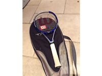 Wilson Triad 7 Technology, Tennis Racket, Power Of Three. Comes with carry case.